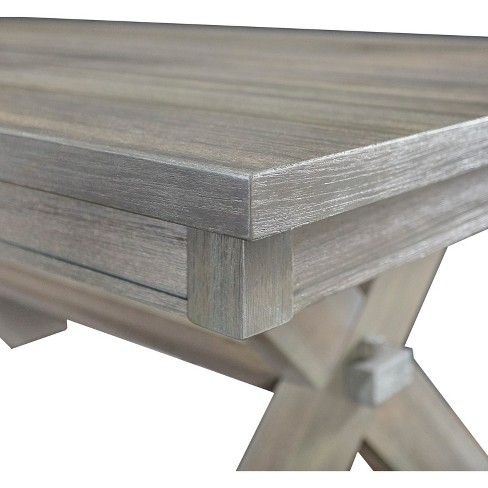 Landon Rectangle Dining Table Distressed Gray Wash Powell Company