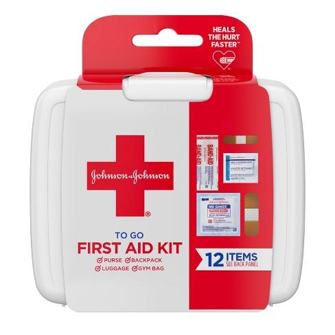 Johnson & Johnson First Aid To Go! Portable Mini Travel Kit - 12pc - image 1 of 11