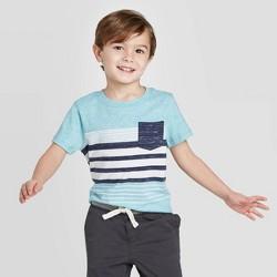 Toddler Boys' Stripe T-Shirt - Cat & Jack™ Navy/Teal