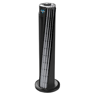 "Vornado 29"" 143 Whole Room Air Circulator Tower Fan with Remote Black"