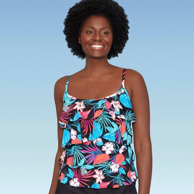 Women's Slimming Control Tiered Tankini Top - Dreamsuit by Miracle Brands