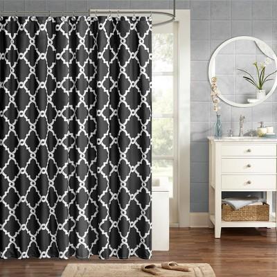 Becker Printed Shower Curtain Black