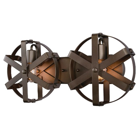 Reel 2 Light Wall Sconce - Rustic Bronze - image 1 of 4