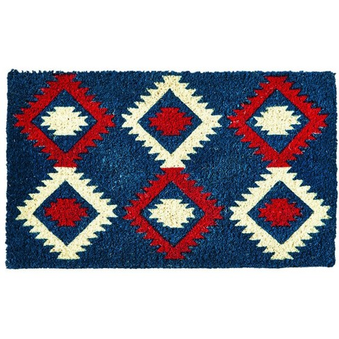 """TAG 1'6"""" x 2'6"""" Nomad Americana Coir Doormat Indoor Outdoor Welcome Mat American 4Th Of July Ikat - image 1 of 4"""