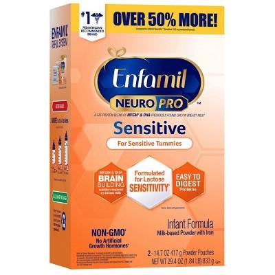 Enfamil NeuroPro Sensitive Infant Formula with Iron Powder - 2ct/14.7oz Each