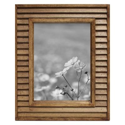 7 x5  Slim Louvered Frame Brown Wood - Threshold™