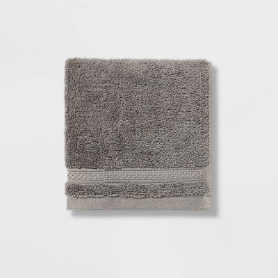 Perfectly Soft Solid Washcloth Dark Gray - Opalhouse™
