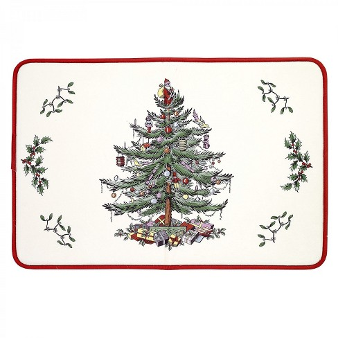 Avanti Spode Red Tree Memory Foam Kitchen Rug Red - Red