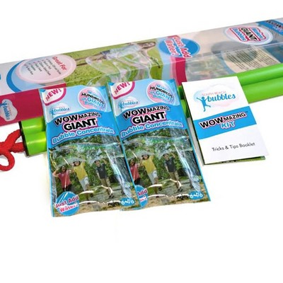 South Beach Bubbles WOWmazing Giant Bubble Wands 3-Piece Kit | Wand + Bubble Concentrate + Booklet