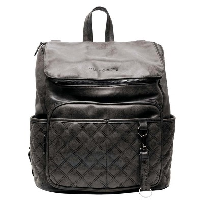 Little Company Lissabon Quilted Diaper Backpack - Black