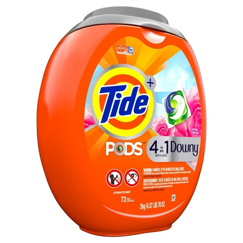 Tide Pods With Downy Laundry Detergent Pacs - April Fresh - 73ct