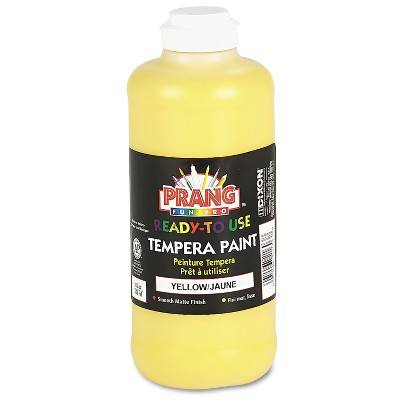 Prang Ready-to-Use Tempera Paint Yellow 16 oz 21603
