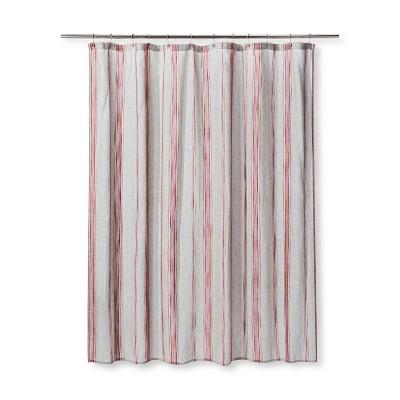 Woven Stripe Shower Curtain Radiant Gray - Threshold™