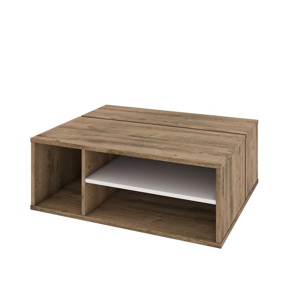 Image of Fom Coffee Table Rustic Brown/Sandstone - Bestar, Rustic Brown/Brown