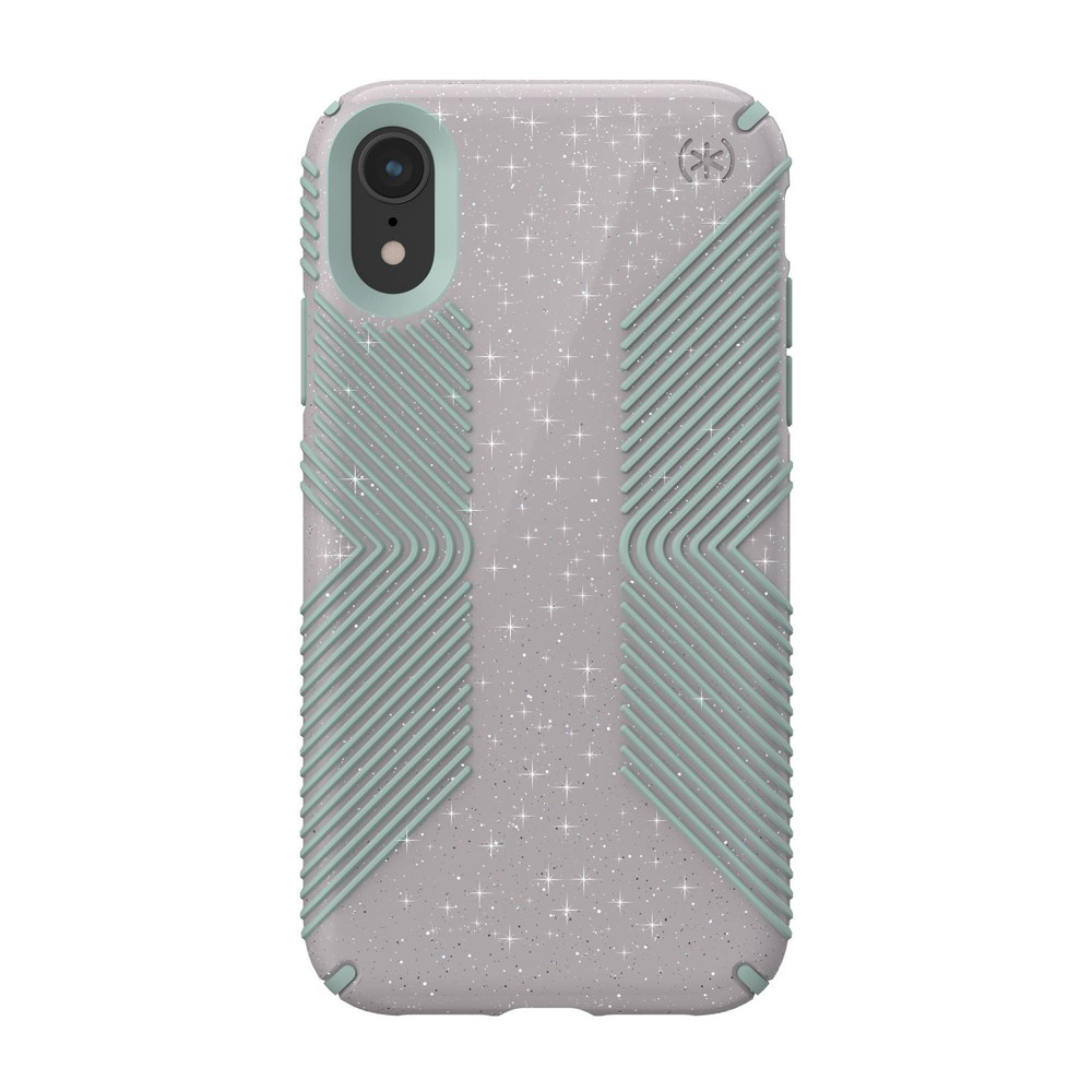 Speck Apple iPhone XR Presidio Grip + Glitter Case - Whitestone Gray (with Blue Glitter) was $39.99 now $19.99 (50.0% off)