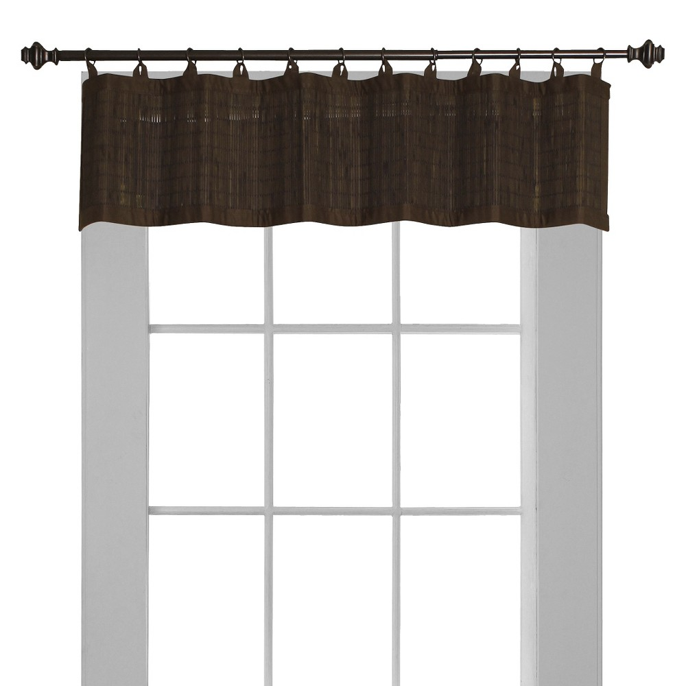 "Image of ""12""""x48""""Window Valance Bamboo Ring Top Dark Brown - Versailles Home Fashions"""