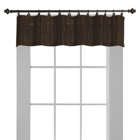 Window Valance Bamboo Ring Top - Versailles Home Fashions - image 1 of 3