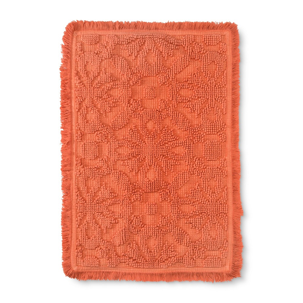 Solid Tile Embossed Bathtub And Shower Mats Peach (Pink) - Opalhouse