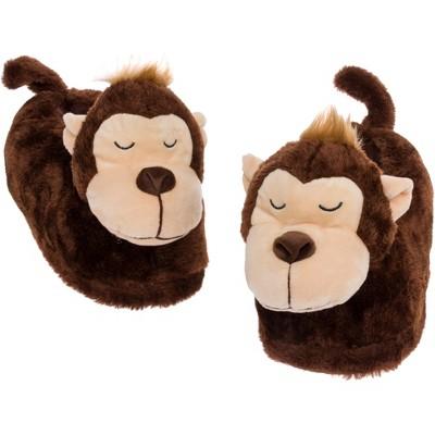FUNZIEZ! - Women's Monkey Animal Slippers