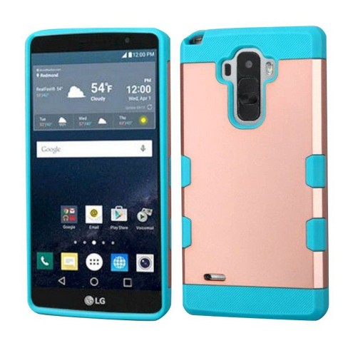 MYBAT For LG G Stylo LS770/G Vista 2 Rose Gold Teal Hard Silicone Rubber Case Cover - image 1 of 1