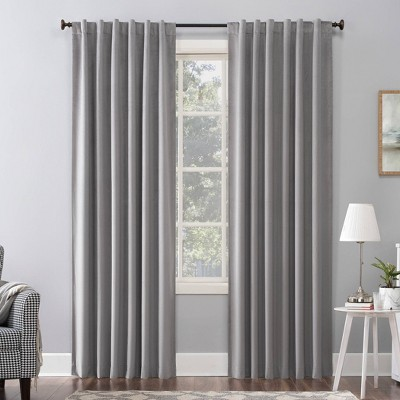 "96""x50"" Amherst Velvet Noise Reducing Thermal Back Tab Extreme Blackout Curtain Panel Gray - Sun Zero"