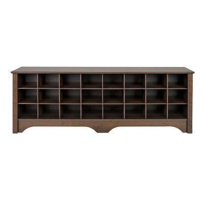 Prepac 60  Shoe Cubby Bench Espresso Brown