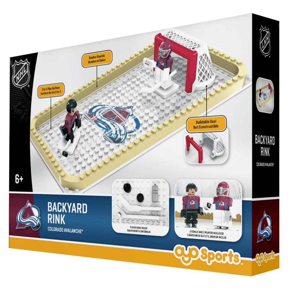 NHL Backyard Rink Toy Hockey Set - Colorado Avalanche