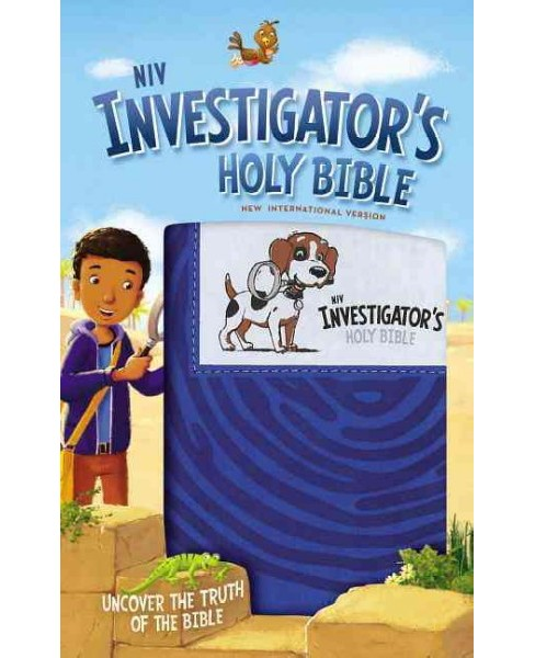 NIV Investigator's Holy Bible : New International Version, Blue, Leathersoft: Uncover the Truth of the - image 1 of 1