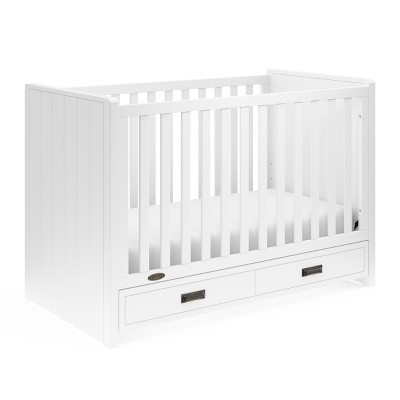 Graco Cottage 3-in-1 Convertible Crib with Drawer - White