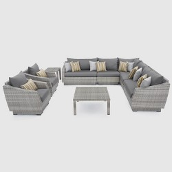 RST Brands Cannes 9-piece Sectional and Club Chair Set