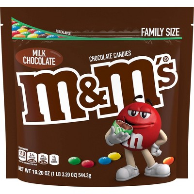 M&Ms Family Size Milk Chocolate Candies - 19.2oz