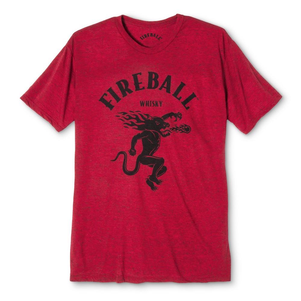 Men's Fireball Short Sleeve Graphic T-Shirt Red L