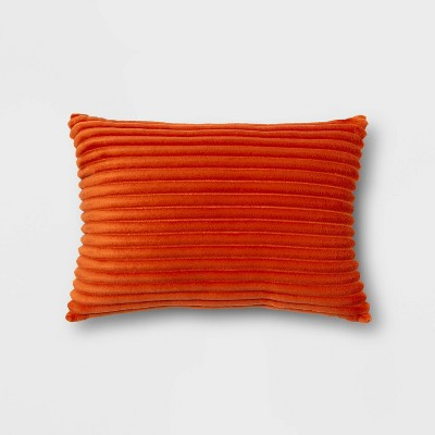 Oblong Cut Plush Decorative Throw Pillow - Room Essentials™