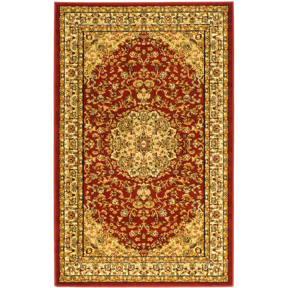 33X53 Loomed Medallion Accent Rug Red/Ivory - Safavieh Best