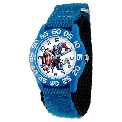 Boys' Marvel Captain America Plastic Watch - Blue