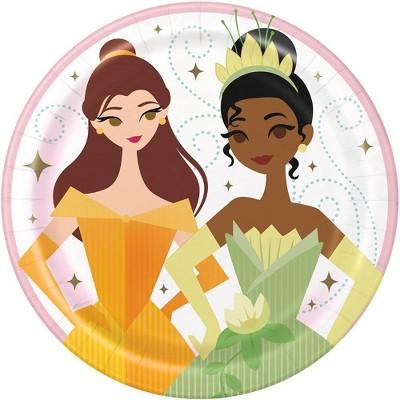 "Disney Princess 7"" 8ct Disposable Plates"