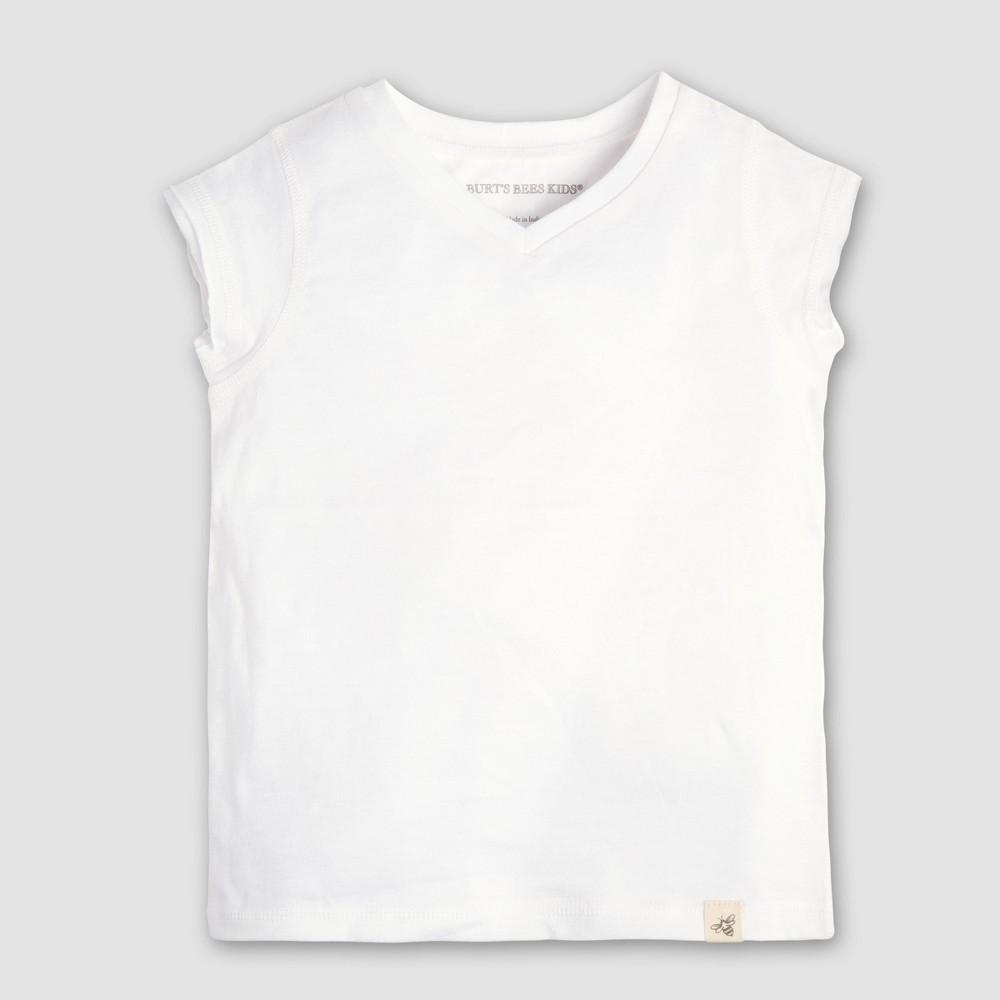Burt's Bees Baby Toddler Girls' Short Sleeve T-Shirt - White 6