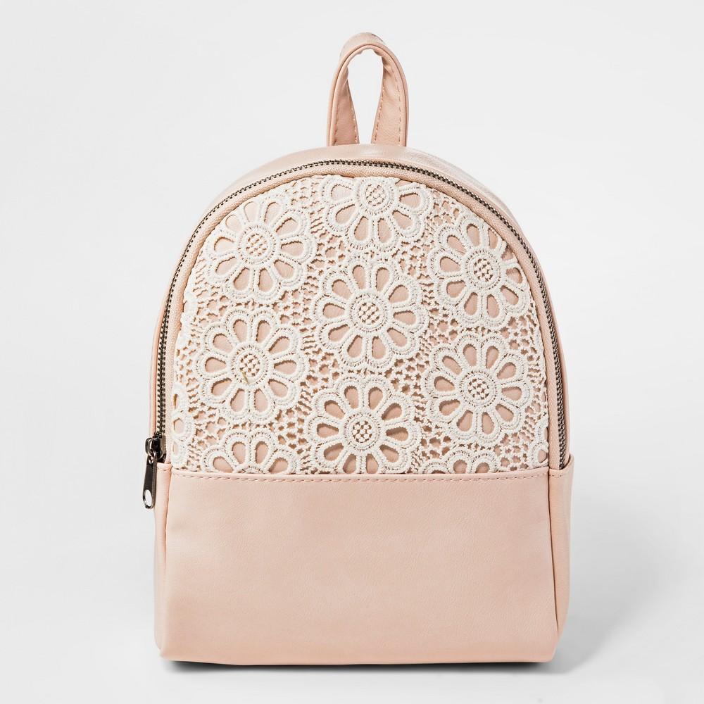Girls' Crochet Backpack - art class Pink