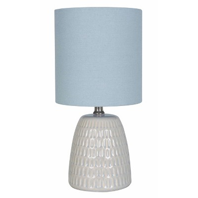Textured Ceramic Table Lamp Blue (Lamp Only)- Threshold™