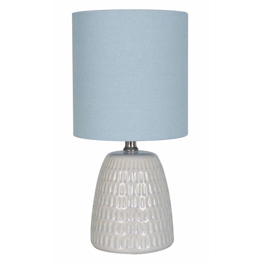 Textured Ceramic Table Lamp Blue (Includes Energy Efficient Light Bulb) - Threshold