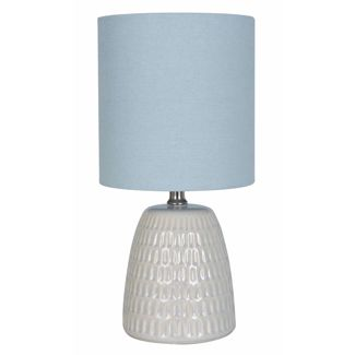 Textured Ceramic Table Lamp Blue (Lamp Only) - Threshold™