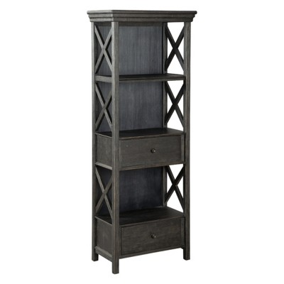 Genial Tyler Creek Display Cabinet Brown/Black   Signature Design By Ashley :  Target