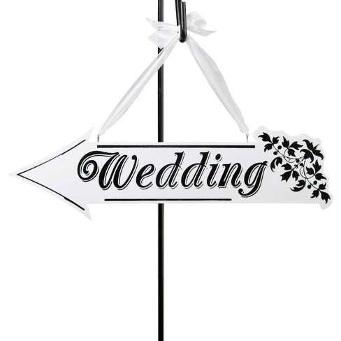 Wedding Arrow Direction Sign - image 1 of 2