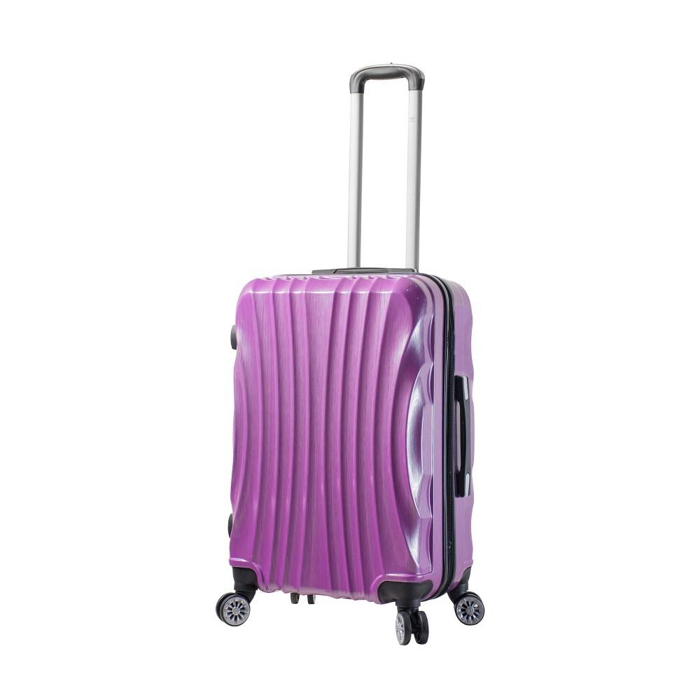 Mia Viaggi Italy Bari 24 Hardside Suitcase - Purple