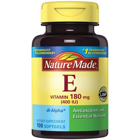 Nature Made Vitamin E Dietary Supplement Softgels - image 1 of 2