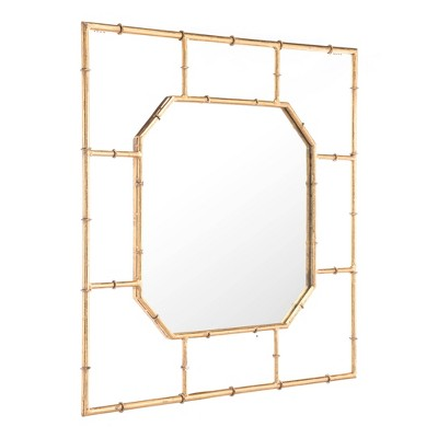 ZM Home 36  Modern Square Mirror Gold