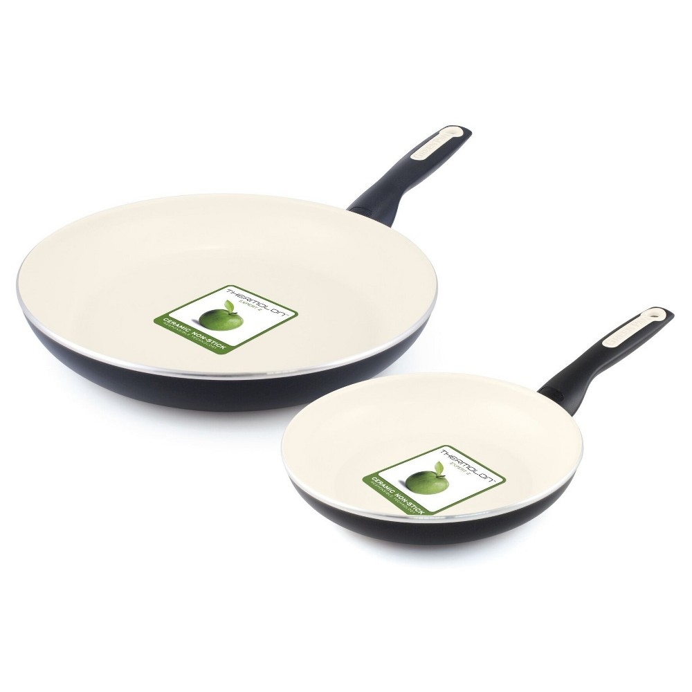 "Image of ""GreenPan Rio 8"""" and 11"""" Ceramic Non-Stick Breakfast Set Black"""