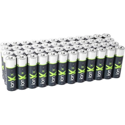 IonX AA Batteries - 48 Count High Performance Alkaline Double A 1.5 Volt Battery