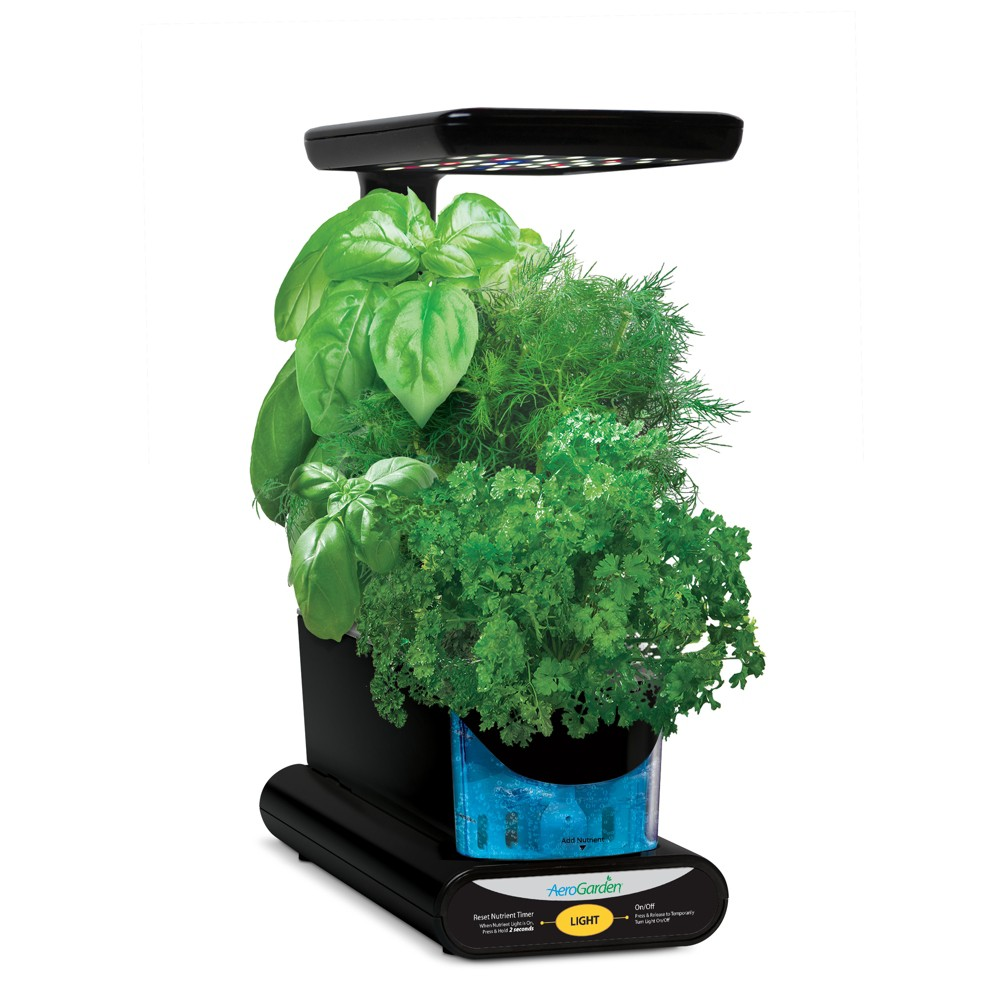 Miracle-Gro AeroGarden Sprout Led w/Gourmet Herb Seed Pod Kit Black 3pc 900817-1200