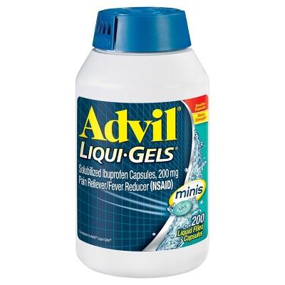 Advil Pain Reliever/Fever Reducer Liqui-Gel Minis - Ibuprofen (NSAID)- 200ct